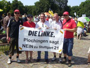 v.l. Bernd Luplow, Dieter Hanic, Klaus Ernst, Thomas Mitsch, Rainer Hauenschild