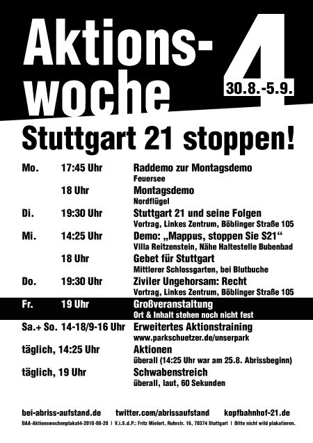 Stuttgart 21 Aktionswoche 4