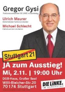 S21 Gregor Gysi in Stuttgart