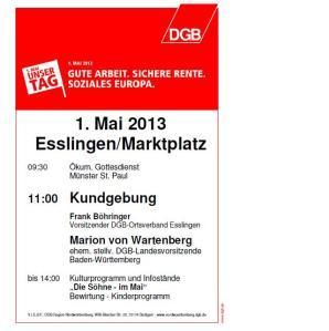 1. Mai 2013 Esslingen